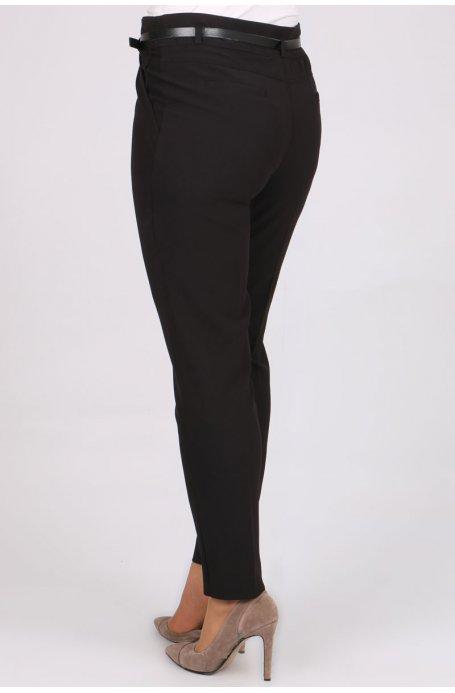 1116 Kemerli Klasik Bilek Pantalon-Siyah