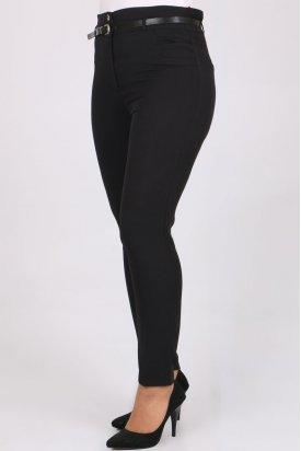 1117 Kemerli Klasik Bilek Pantalon-Siyah
