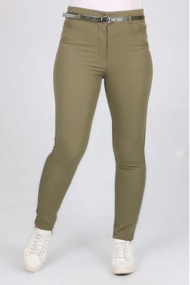 1124 Kemerli Klasik Bilek Pantalon-Haki