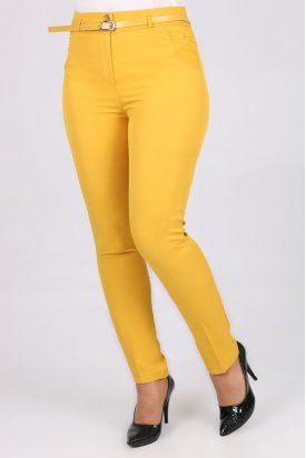 1124 Kemerli Klasik Bilek Pantalon-Hardal