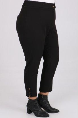 9058 Büyük Beden Patlı Pantolon-Siyah