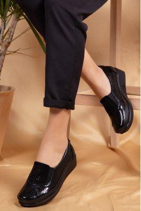 Gondol Croco Detaylı Hakiki Deri Ayakkabı vdt.018