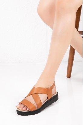 Gondol Hakiki Deri Ortopedik Taban Sandalet   vdt.500