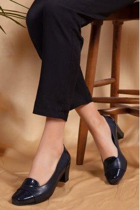 Gondol Hakiki Deri Topuklu Ayakkabı   şhn.0097