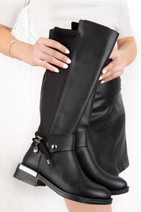 Gondol Kadın Günlük Metal  Topuk Detaylı Çizme fls.111
