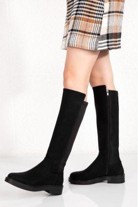 Gondol Kadın Siyah Günlük Çizme fls.215